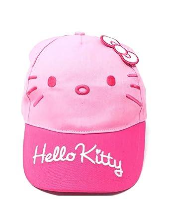07c7db6c6510 Hello kitty Casquette Enfant Fille Blanc et Rose de 3 à 9ans  Amazon.fr   Vêtements et accessoires
