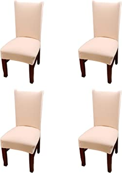 Argstar 4 Pack Chair Covers, Stretch Armless Chair Slipcover for Dining  Room Seat Cushion, Spandex Kitchen Parson Chair Protector Cover, Removable  & ...