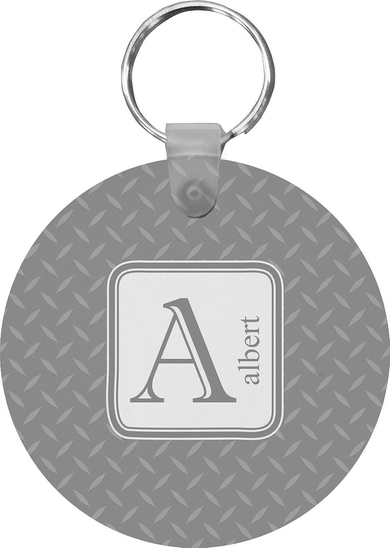 Diamond Plate Round Keychain (Personalized)