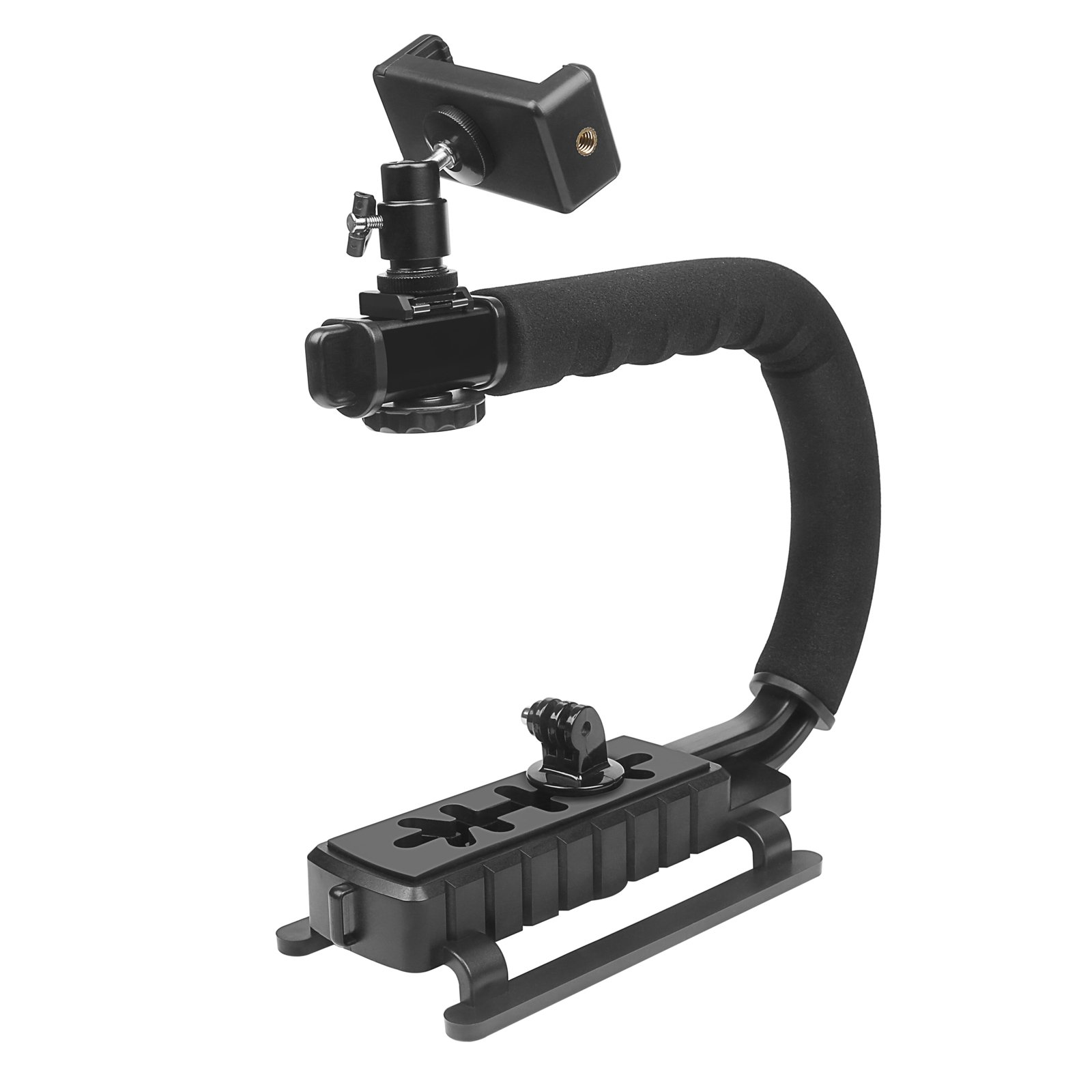 D&F Video Stabilizer Handheld Stabilizing Grip Hand Holder with 1/4 Screw Hole for GoPro 6/5/4/3+/3 SJCAM, Sony Canon Nikon DSLR and DV Camcorder