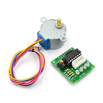 HiLetgo 5pcs ULN2003 28BYJ-48 4-Phase Stepper Motor with 5V Drive Board for Arduino PI PIC Raspberry Pi