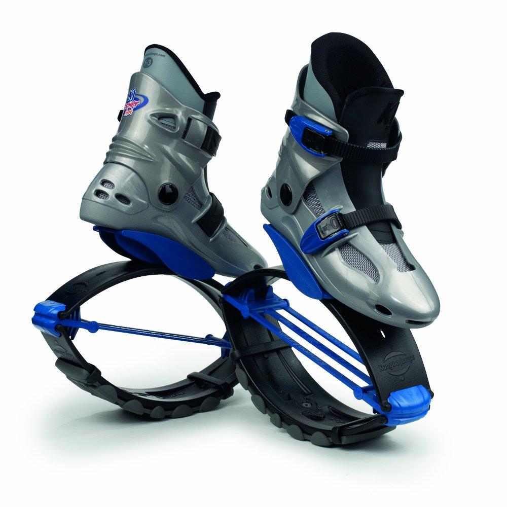 Kangoo Jumps Power Shoes (Child's Model) (Silver & Blue, Boy's 1-3 Girl's 2-4)