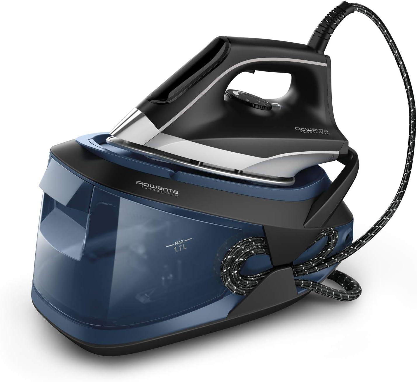 Rowenta Turbosteam VR8322 - Centro de planchado con 6.5 bares, 2600 W, golpe de vapor de 370 g/m, suela MiscroSteam 400