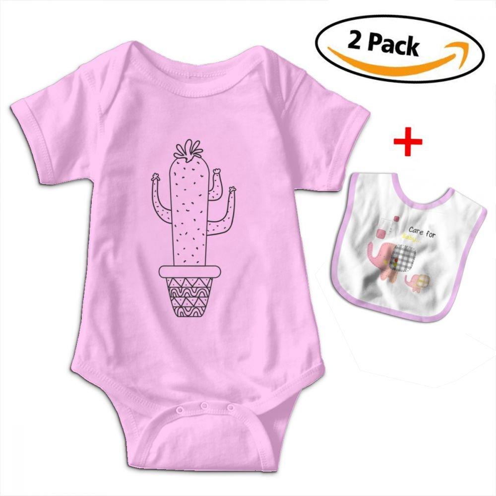 Cactus Baby Bodysuits Funny Short Sleeve