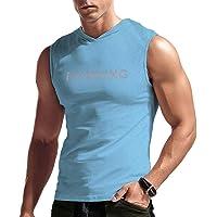 Hombres Rutina de Ejercicio Sin Mangas Capucha Deportes Corriendo Camisas Encapuchado Gimnasio Tops
