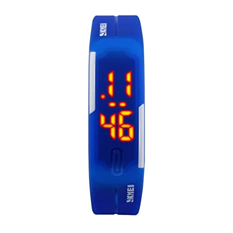 TTLIFE 1099 Reloj de Pulsera Unisexo Deportivo Digital Reloj de Moda  Impermeable al Aire Libre Chicos Chicas - Azul 704805a0d806