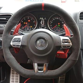 LUOERPI Alcantara - Funda para Volante de Coche para Volkswagen ...