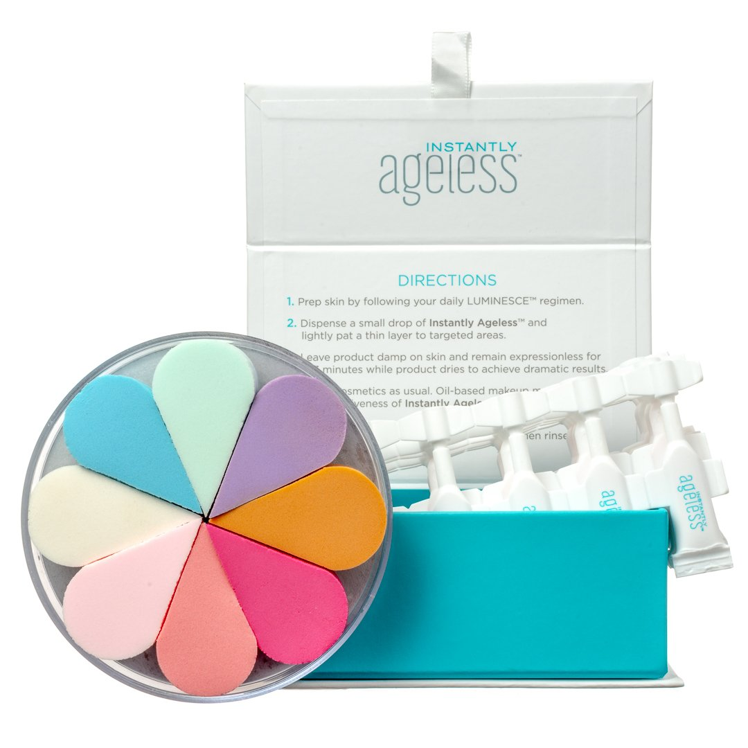 Instantly Ageless 25 Vials With 8 FREE Cosmetic Sponges | Instantly Ageless 25 Vial Box Set with a FREE Set of 8 Cosmetic Sponges