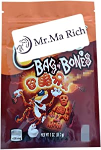 Mr.Ma Rich 600mg French Fries Packaging Bag Mylar Bags Packing Bags Ziplock Bag Candy Snack Resealable Bags Smell Storage Proof Resealable 3.93X5.9in No Tags/Empty bag (BAG BONES,25)