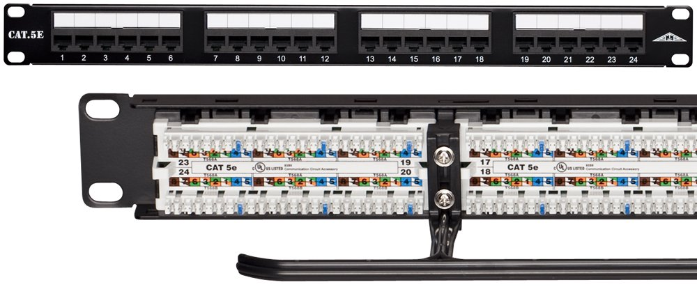 Amazon allen tel products at55b pnl 24 24 ports 568a 568b amazon allen tel products at55b pnl 24 24 ports 568a 568b wiring 1 rack unit 110 termination category 5e patch panel electronics sciox Gallery