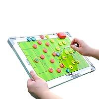 ADESUGATA Aluminum Alloy Double Sided Football Soccer Coach Magnetic Tactics Board 30cm*45cm