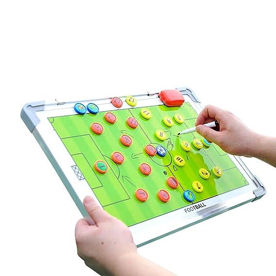 Adesugata aleación de aluminio doble cara fútbol entrenador de ...