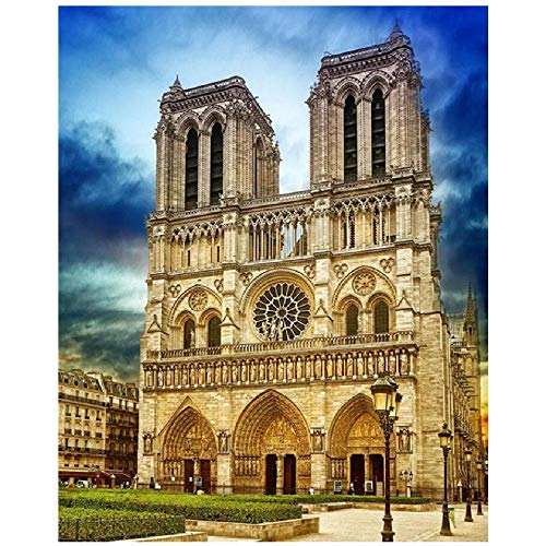 Wooden Adult Puzzle 1000 Pieces Art DIY Puzzle Notre Dame Twin Towers Landscape Personalise Adult Game Children's Educational Toys