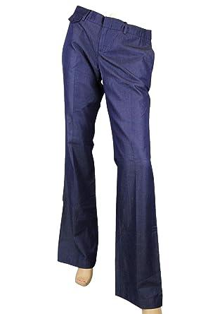 b4259e0fb26 Amazon.com  Gucci Denim 70 s Blue Cotton Lyocell Soft Jeans Pants 342603  4002 (40)  Clothing