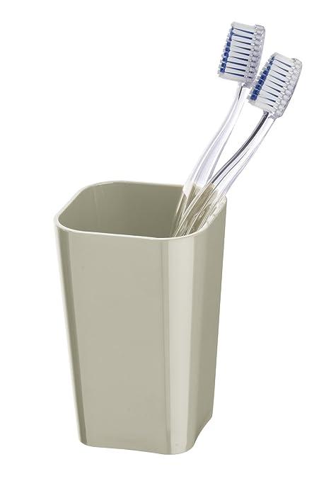 Wenko Vaso para Cepillo de Dientes 22.449.100, Candy, en poliestileno Color Gris