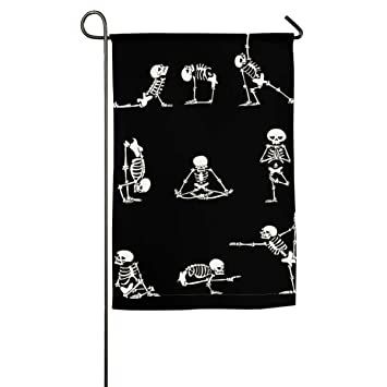 Amazon.com: Funny Skeleton Yoga Happy Party for Yard Flag ...