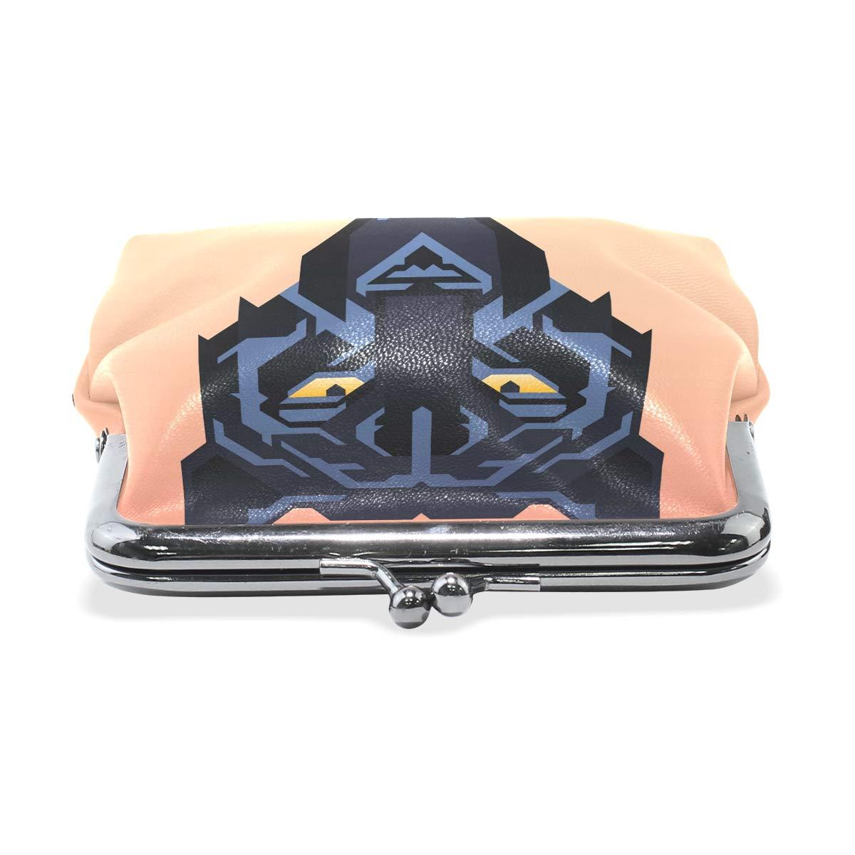 LALATOP Black Panther Mascot Womens Coin Pouch Purse wallet Card Holder Clutch Handbag