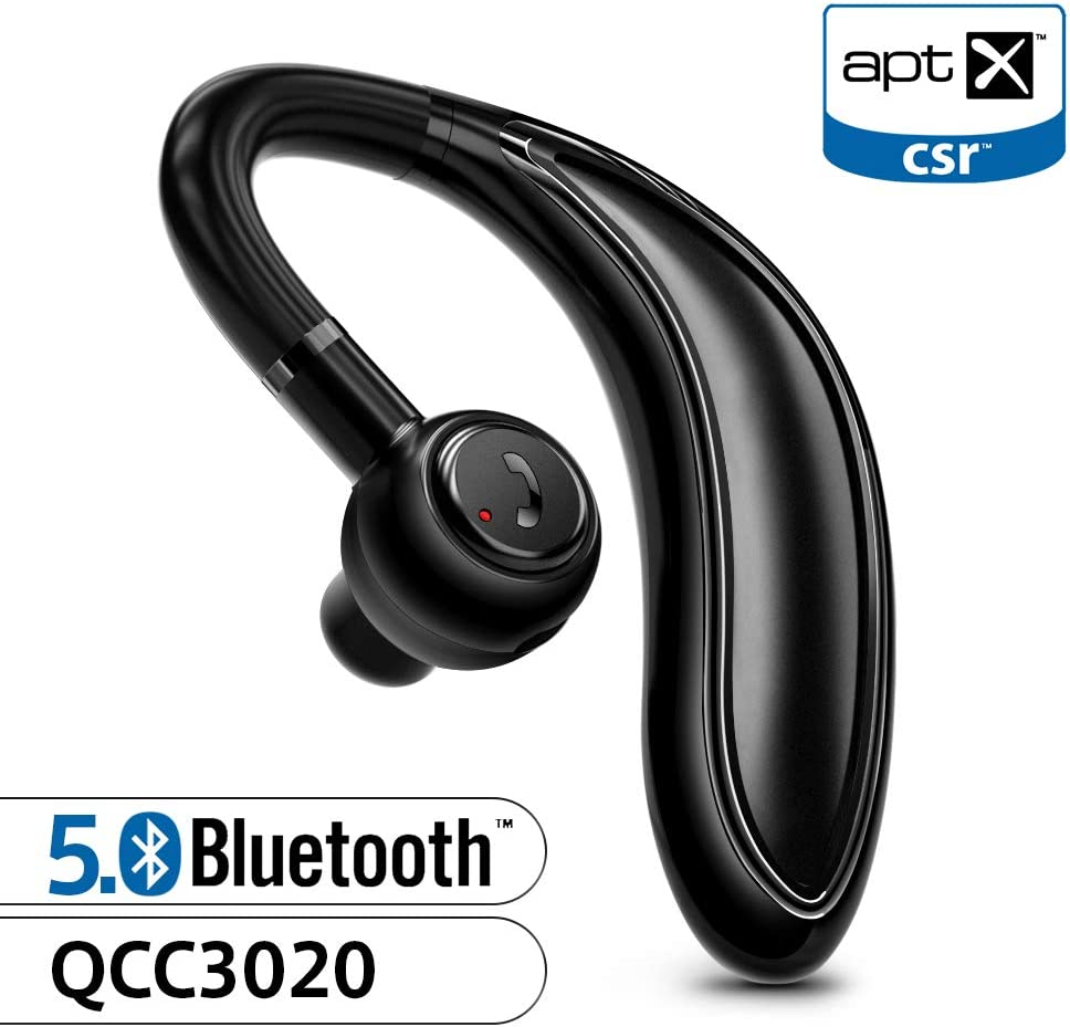 Amazon Com Bluetooth Earpiece For Cell Phone Timmkoo S60 Single Ear Hands Free Wireless Bluetooth Headset With Mic Apt X Cvc8 0 For Iphone Samsung Android Pc Laptop Tablet Tvs Black Home Audio Theater