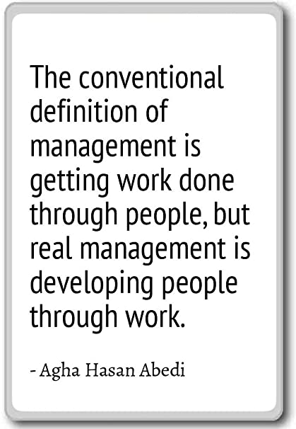 Amazon The Conventional Definition Of Management Agha Best Quotes Definition