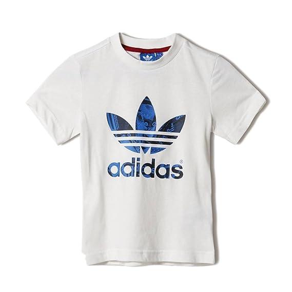 adidas Originals Kurzärmliges Shirt Shoe Box - Camiseta/Camisa deportivas para niño, color beige, talla 140: Amazon.es: Deportes y aire libre