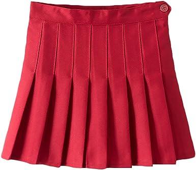 IBTOM CASTLE Girls High Waist Pleated Mini Tennis Short Skater Flared Skirt