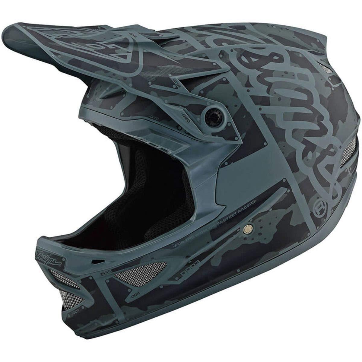 Troy Lee Designs D3 Fiberlite Helmet Factory Camo Green, L