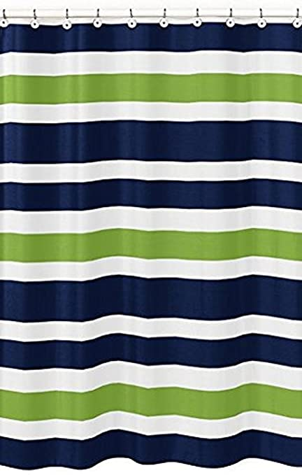 amazon com navy blue lime green and white kids bathroom fabric rh amazon com navy blue and lime green bathrooms mint green and navy bathroom