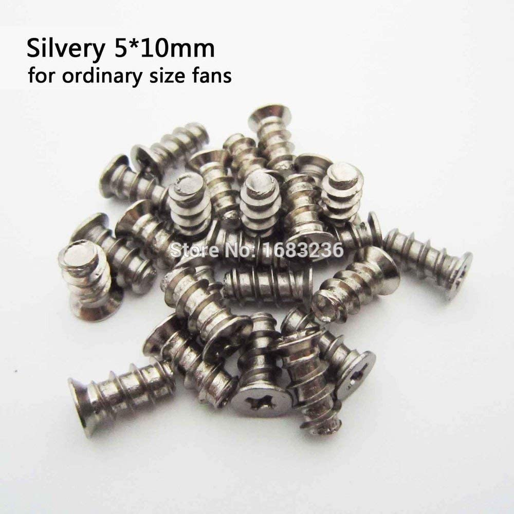 Pc Case Cooling Fan Filter Grill Heat Dissipation Fixer Mount Screw Flat Head DIY Computer A - Dimensions:Silvery 5X10mm Silvery Mercury/_Group 50Pcs Black
