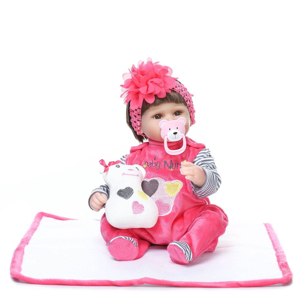 QXMEI Doll Simulation Baby Rebirth Soft Toy Doll Girls Juguetes Creativos
