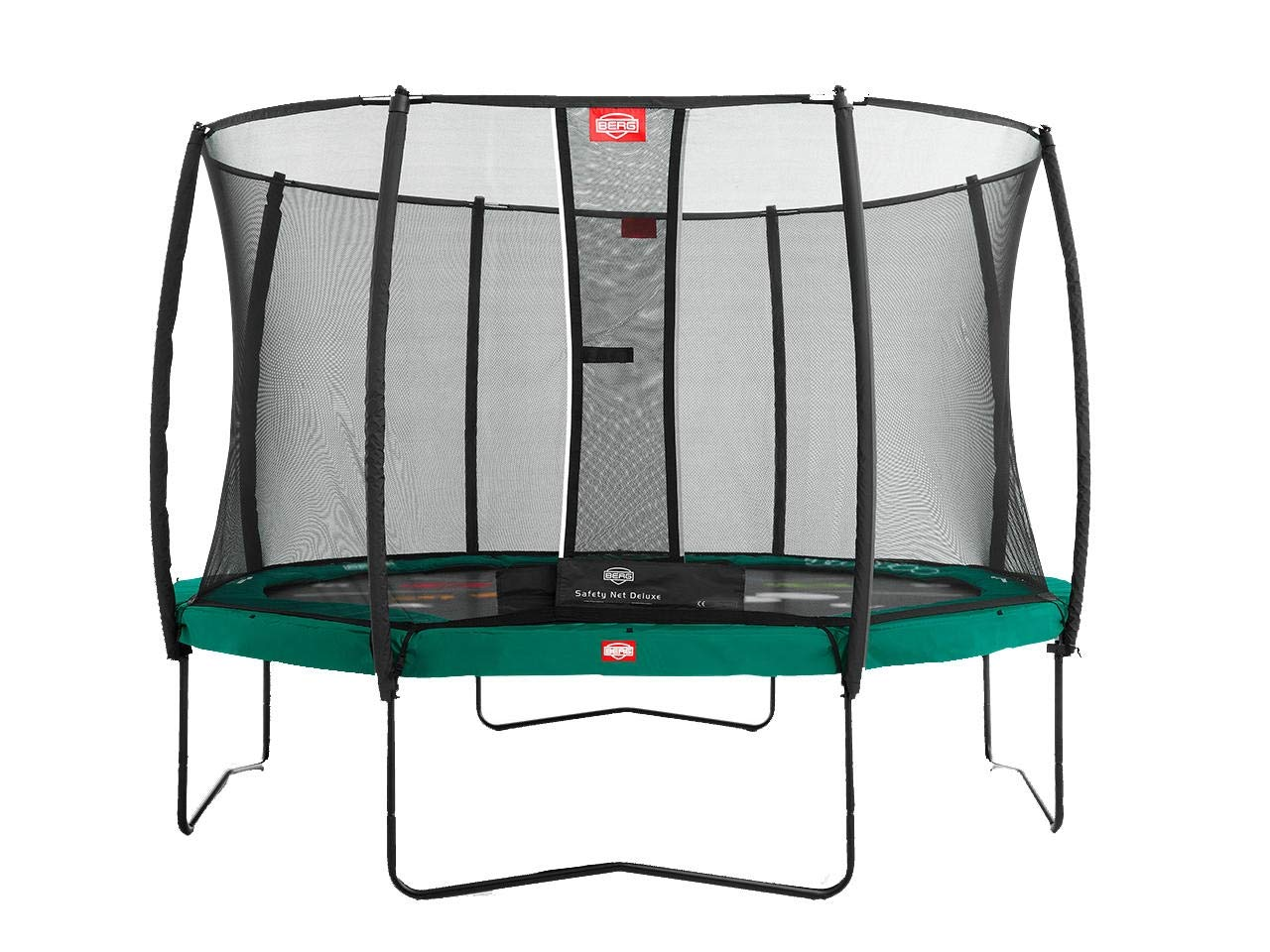 Berg Champion 430 Tattoo 14ft Trampoline+ Safety Net Deluxe Grün