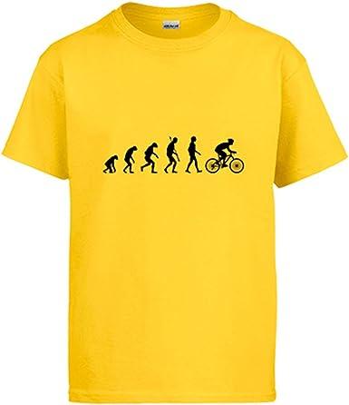Diver Camisetas Camiseta Cyclist Evolution la evolución del Ciclista Ciclismo Bicicleta Bici: Amazon.es: Ropa y accesorios