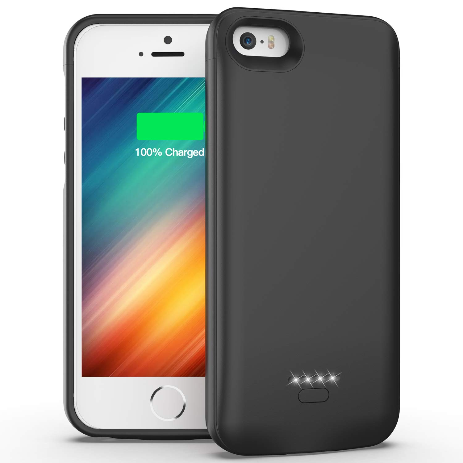 iPhone 5 5S SE Battery Case, 4000mAh Portable Protective Charging Case Extended Rechargeable Charger Case for iPhone 5/ 5S/ SE (4.0 inch) by Swaller