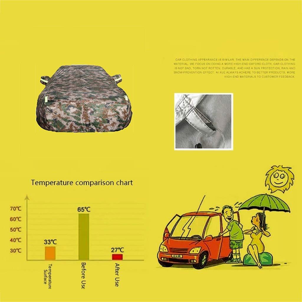 Housse de protection pour auto Bandes r/éfl/échissantes Housse de protection pour voiture Color : Camouflage-645Ci Housse de protection pour voiture charpie int/égr/ée tissu Oxford Bmw