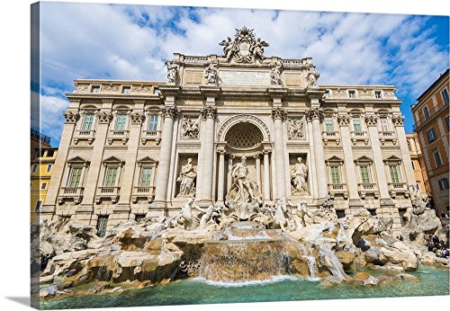Mats Silvan Premium Thick-Wrap Canvas Wall Art Print entitled Trevi Fountain, Rome, Italy 24