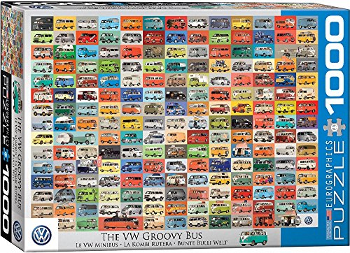 The VW Groovy Bus - 1000 Piece Jigsaw Puzzle - Cars
