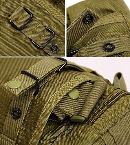 Bolso de hombro bolso riñonera táctico militar al aire libre deporte senderismo polivalentes para hombres Jungle Camouflage Verde - verde