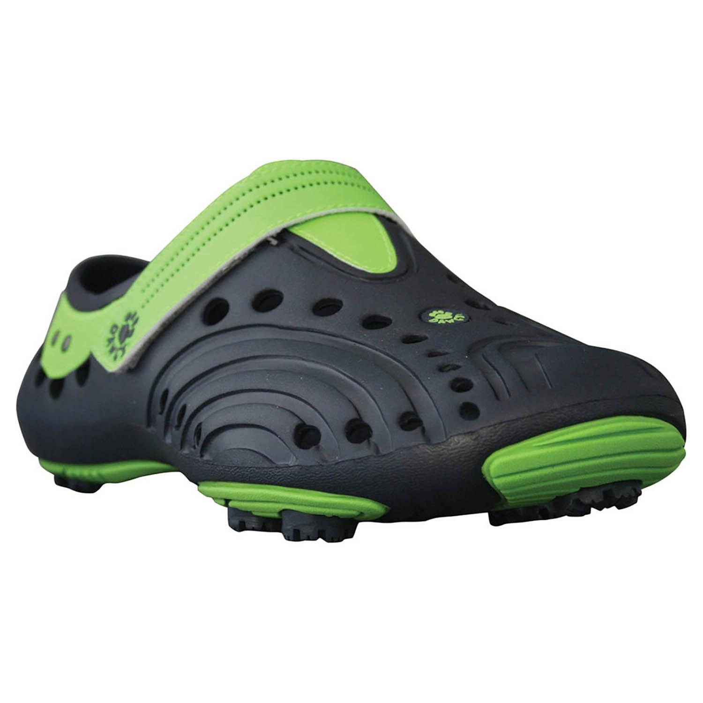 DAWGS Men's Spirit Lightweight Golf Shoes, Navy with Lime Green, 14