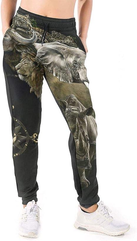Yaitty Africa Art Wild Animals - Pantalones de chándal para Mujer ...