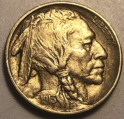 1913 P Buffalo Type I Rare Nickel AU Condition Almost Uncirculated