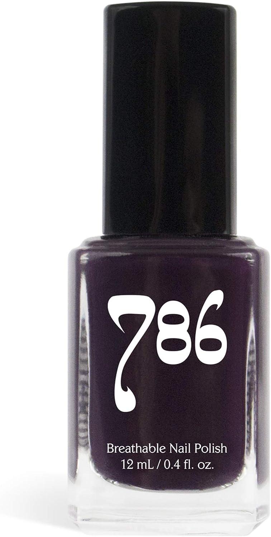 786 Cosmetics Pretoria Deep Purple Vegan Nail Polish Cruelty Free 11 Free Halal Nail Polish Fast Drying Nail Polish Best Purple Nail Polish