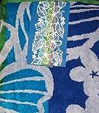 Kirkland Signature 100% Egyptian Cotton Beach Towel (Blue/Green Tropical)