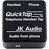 JK Audio QT Quicktap Telephone Handset Audio Interface for conversation recording and monitoring
