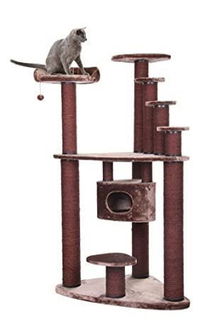 XXL mega Gatos Árbol Rascador para gatos gato cueva gato ...