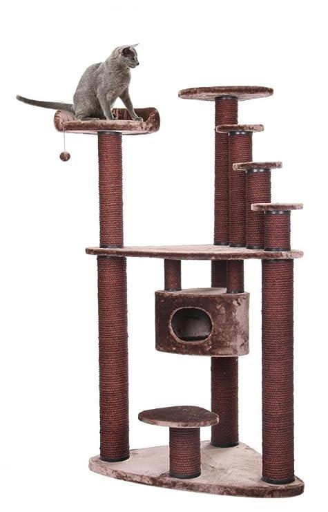 XXL mega Gatos Árbol Rascador para gatos gato cueva gato Dormir Espacio Crema 116 x 76