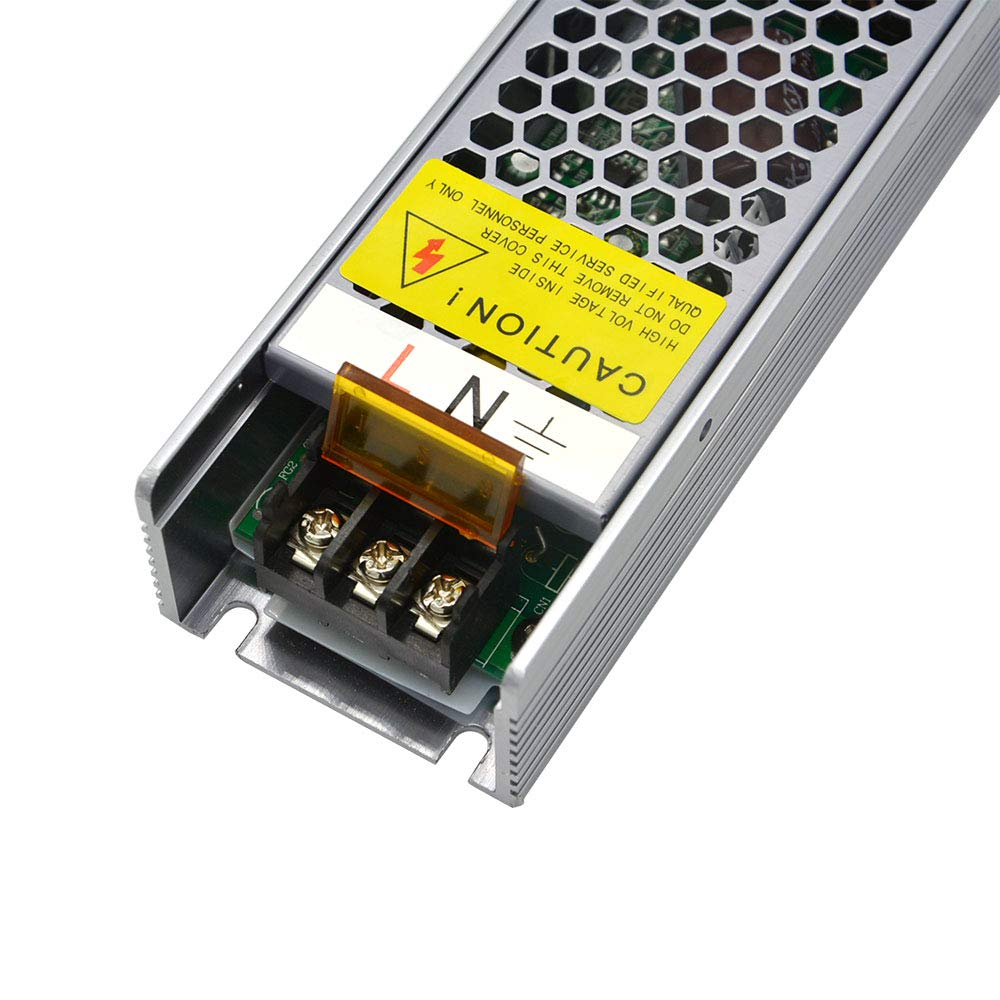 Dimmable Power Supply 24V 100W 4A Constant Voltage 0-10V Driver DC 24Volt Silicon Controlled Rectifier SCR Dimmer for LED Strip Light 24VDC Dimming Work with All Dimmer Switches