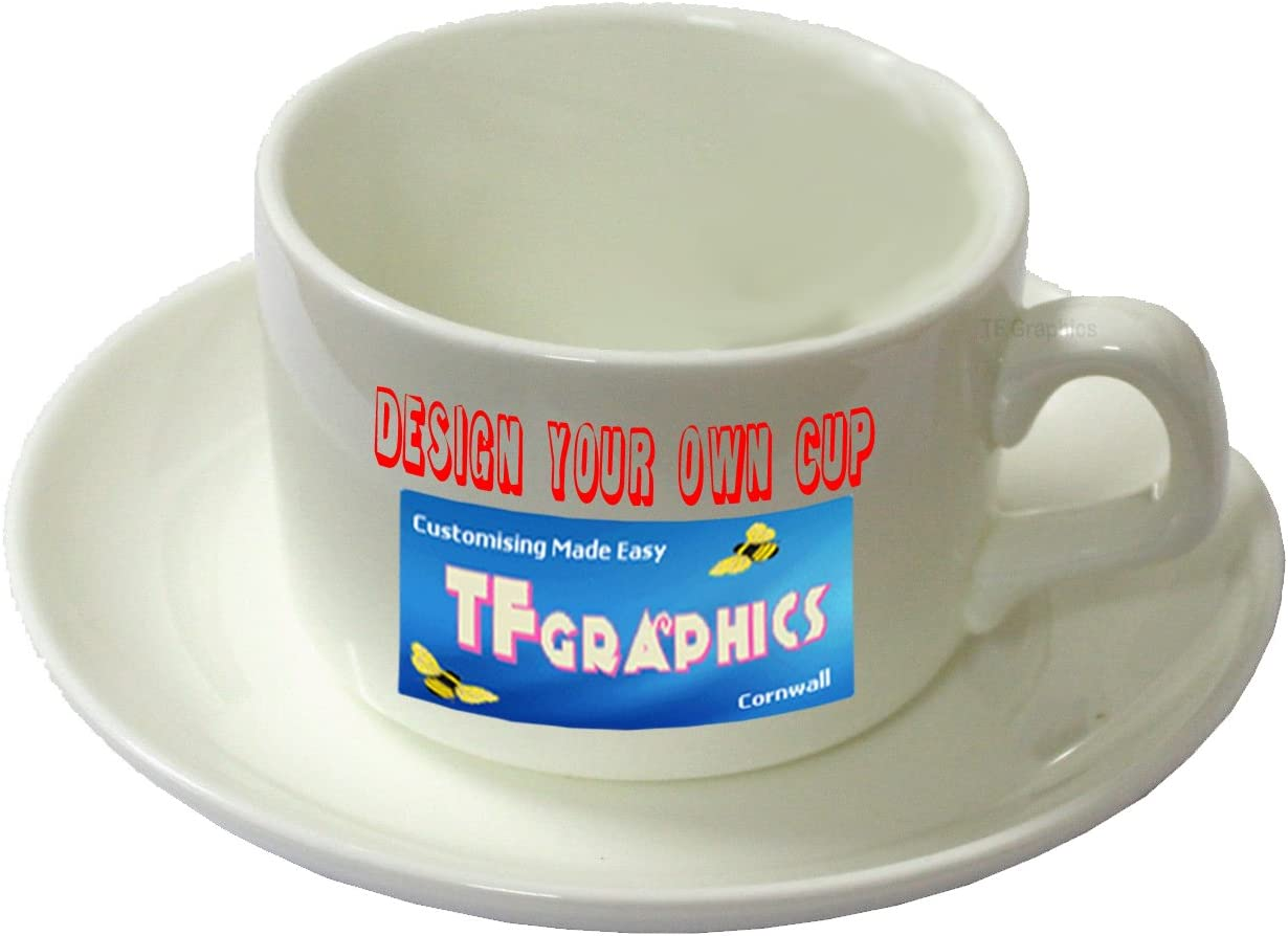Design Your Own Custom Cup and Saucer Set Personalised