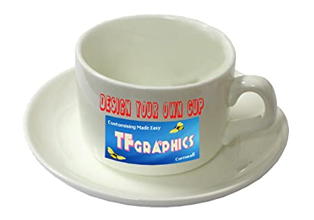 Design Your Own Custom Cup And Saucer Set Personalised With Your