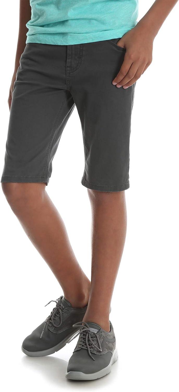 Wrangler Boys Premium Slim Straight Short with Adjustable Waist Smoke Dark Blue, 14, 28 Waist