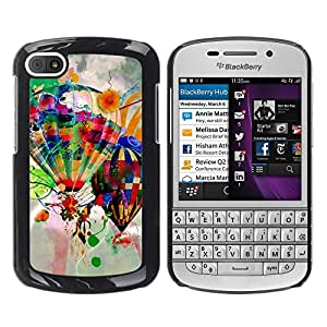 Paccase / SLIM PC / Aliminium Casa Carcasa Funda Case Cover - Design Hot Air Balloons - BlackBerry Q10