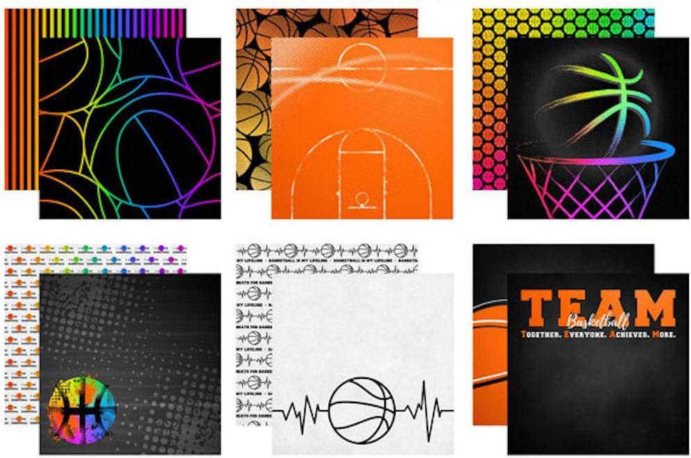 Scrapbook Customs Themed Paper Scrapbook Kit Basketball Life